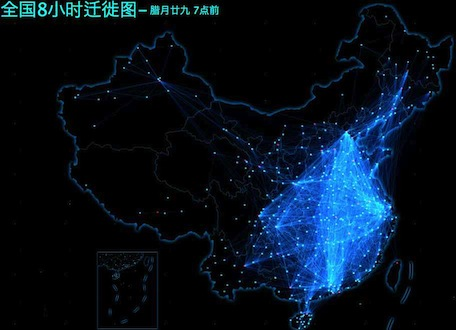 Chinese New Year migration map