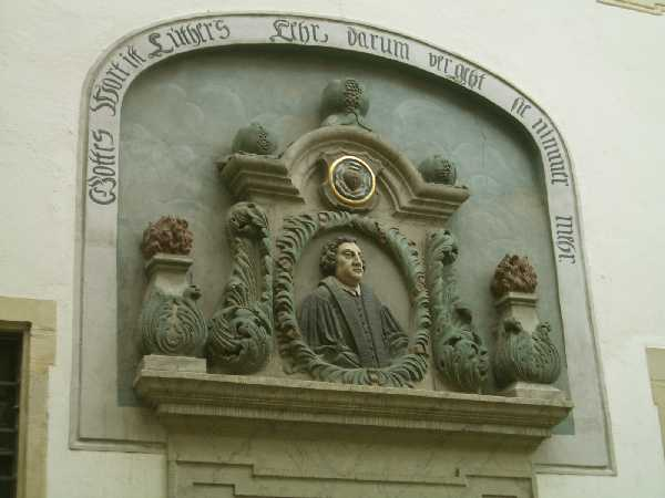 Luther's birthplace placque